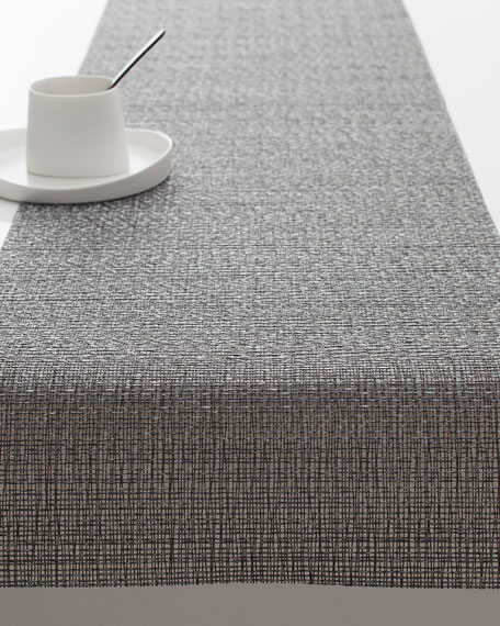 Chilewich Graphite Glassweave Table Runner