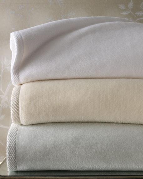 Sferra Full Queen Plush Combed Cotton Blanket