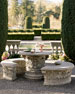 Roman Garden Table & Bench
