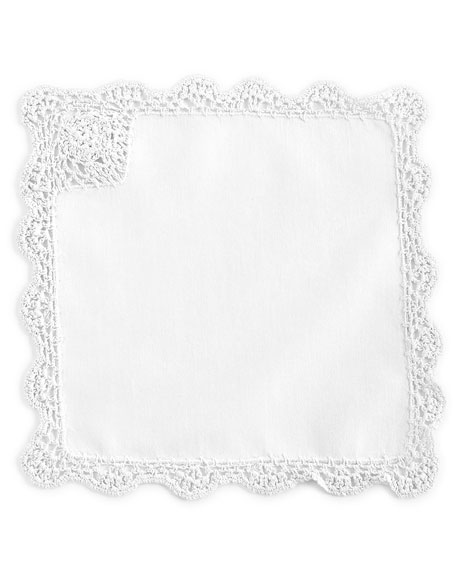 12 Crochet-Edge Tea Napkins