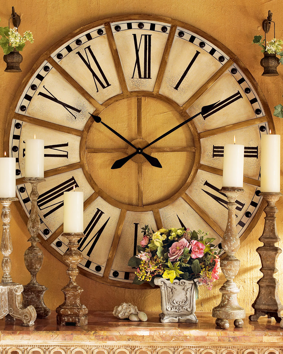 Large Train Station Clock Neiman Marcus