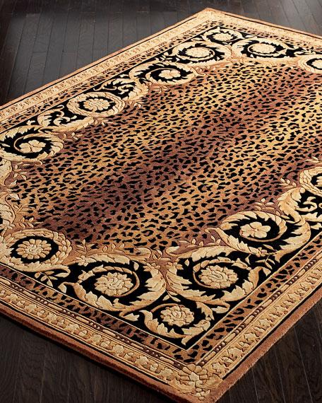 Roman Leopard Rug, 6' Round