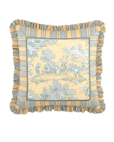"Legacy Lutece Cypress Toile Pillow, 20""Sq."