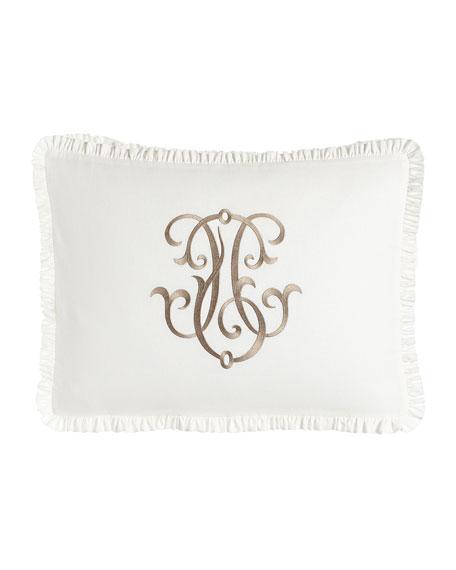 Legacy Each Essex Standard Embroidered White Box Sham