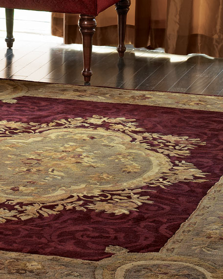 "Tufted Aubusson Rug, 3'6"" Round"