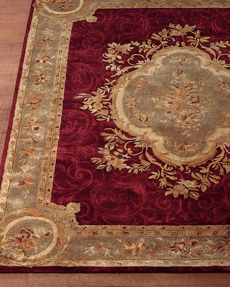 rugs wool aubusson rug area p rectangle evaline