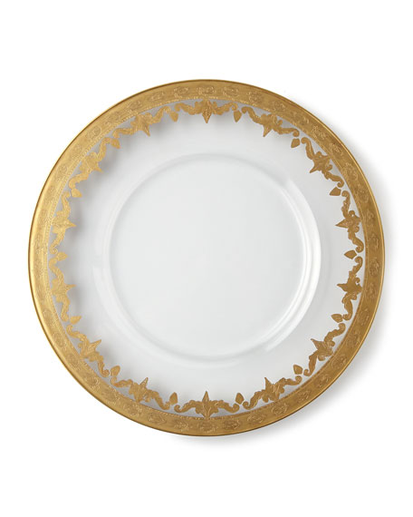 Two Vetro Gold Charger Plates