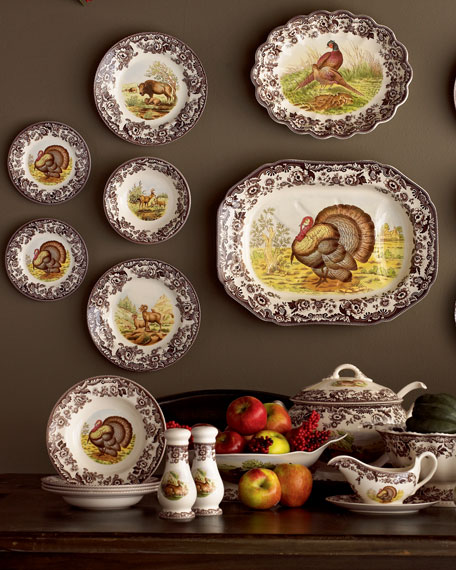 Turkey Salad Plates, Set of 4