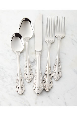 Wallace Silversmiths 65-Piece Antique Baroque Flatware
