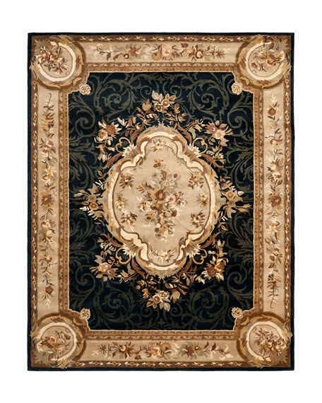 Aubusson Night Rug, 5' x 8'