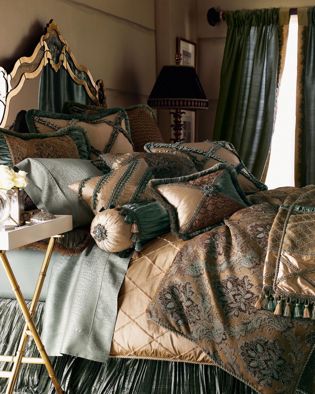 Dian Austin Couture Home King Villa Di Como Brocade Duvet Cover