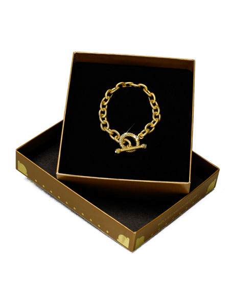 """""""Rhodes"""" Toggle Bracelet, 7.5"""""""