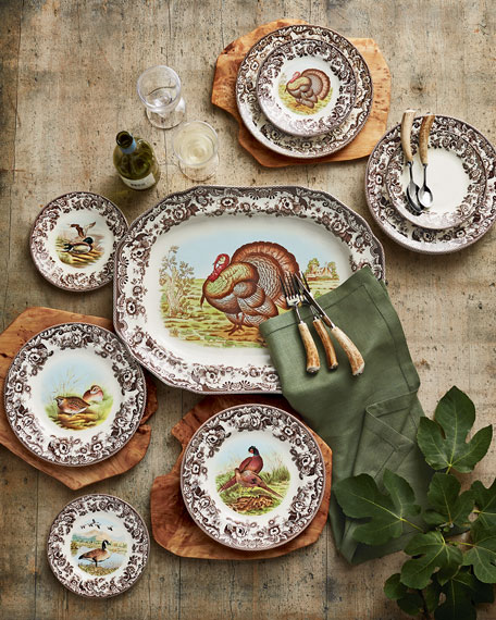 "Woodland Turkey 19"" Platter"