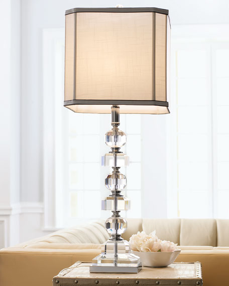 Stacked Crystals Table Lamp