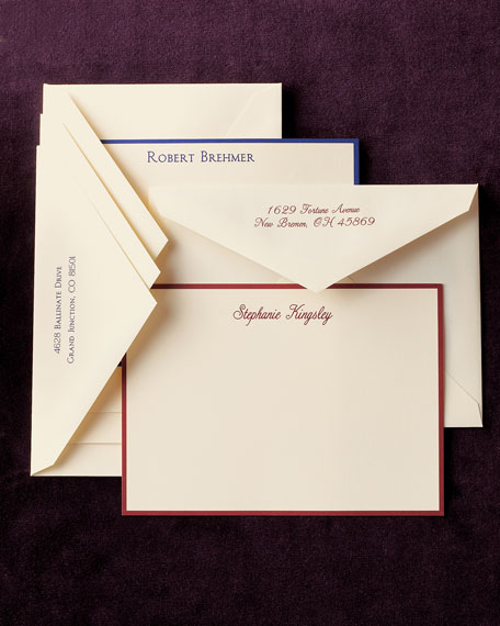50 Personalized Correspondence Cards with Personalized Envelopes