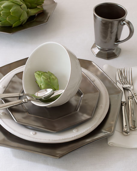 "Four ""Pewter"" Salad/Dessert Plates"