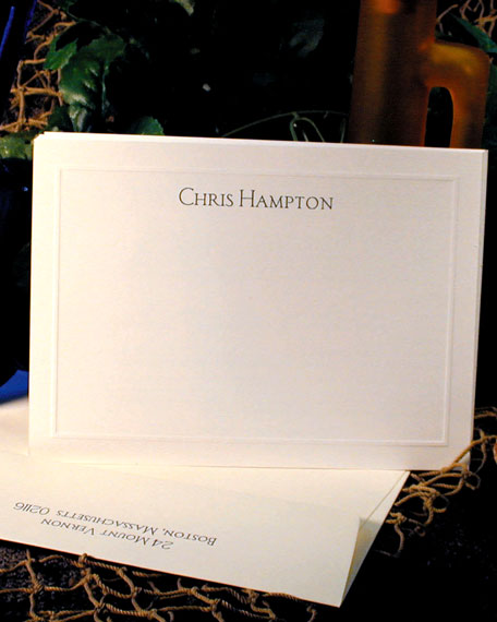 100 Bordered Correspondence Cards with Personalized Envelopes