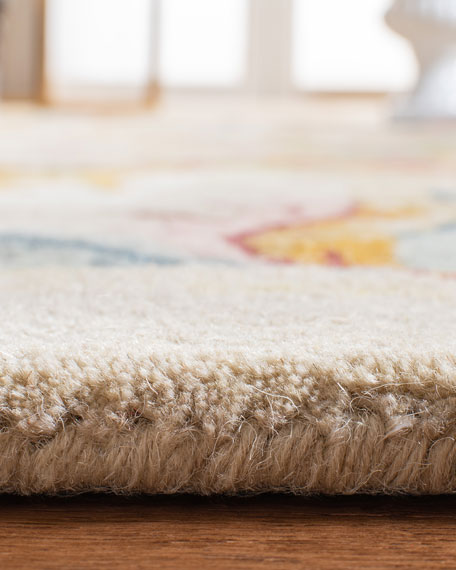 Image 5 of 5: Safavieh Feather Medallion Rug, 6' Round