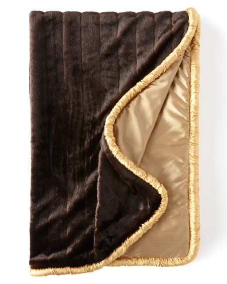 Dian Austin Couture Home Gustone Faux-Fur Throw