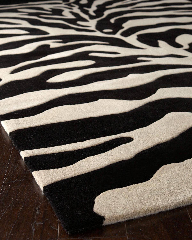 Fair Ivory Zebra Rug 5 X 8 Neiman Marcus