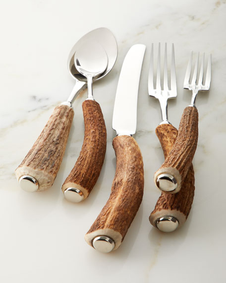 Vagabond House 5-Piece Stag Horn Place Setting