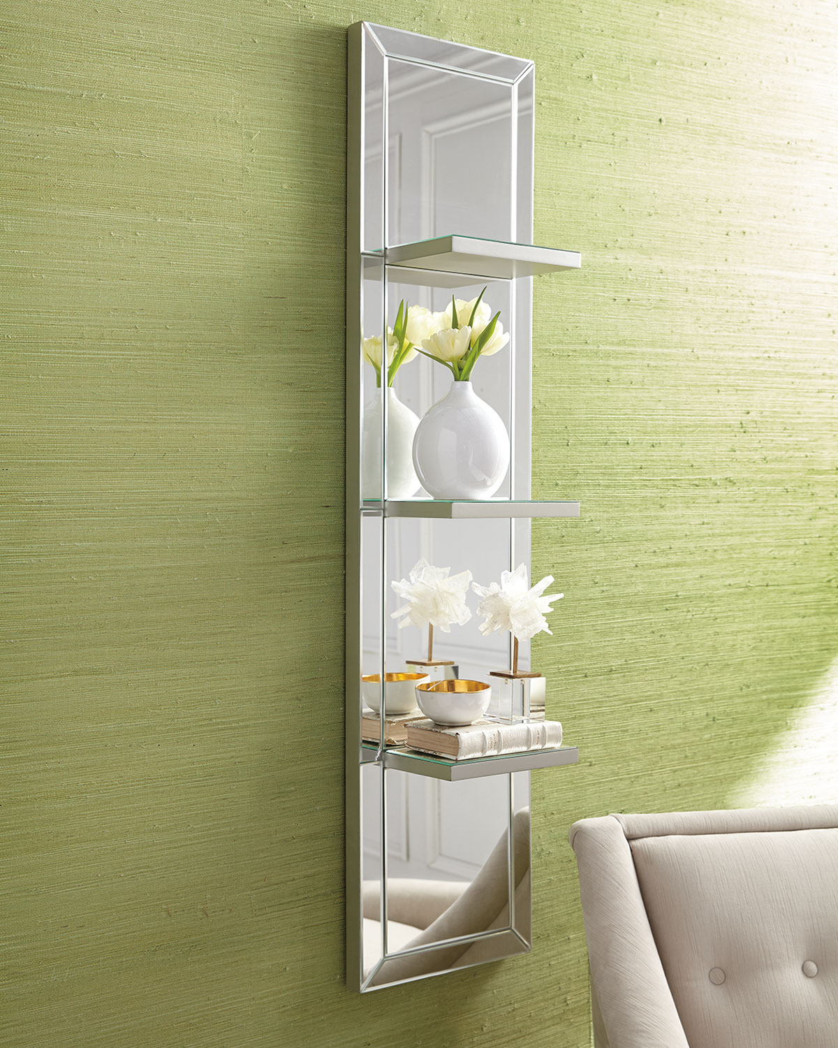 Mirrored Shelf Wall Panel | Neiman Marcus
