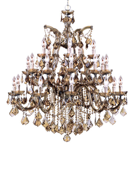 Crystorama Golden Teak 26-Light Chandelier
