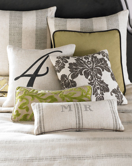 French Laundry Home Spring Garden Monogrammed Pillow, 12