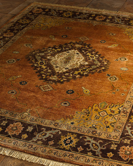 Kalaty Rug Corporation Chocolate Copper Medallion Rug