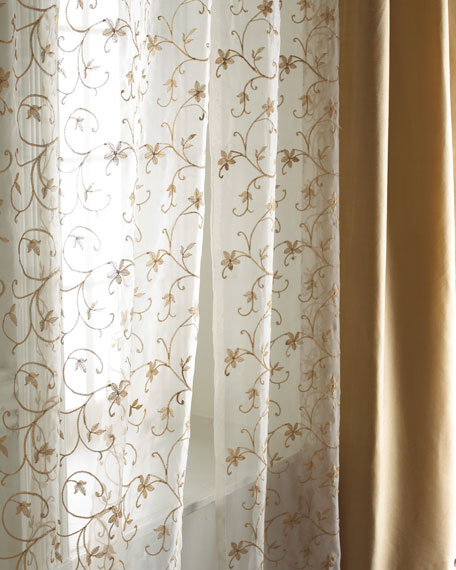 "Each 54""W x 108""L Vienna Sheer"