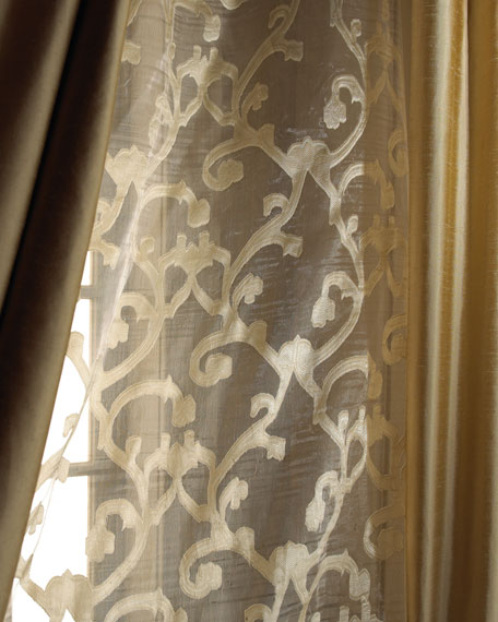 "Each 52""W x 84""L Venetian Scroll Sheer"