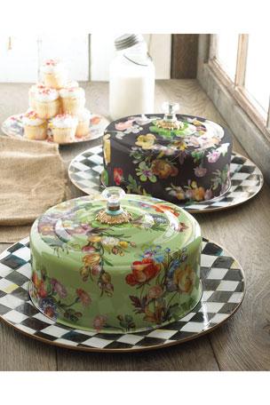 MacKenzie-Childs Flower Market Cake Carrier