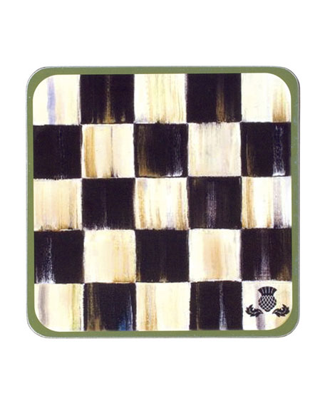 MacKenzie-Childs Four Courtly Check Coasters