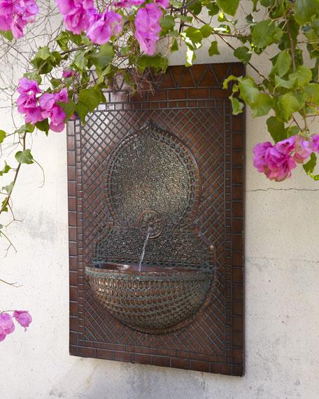 Mosaic Tile Wall Fountain