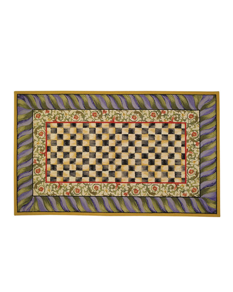 Courtly Check Rug, 3' x 5'