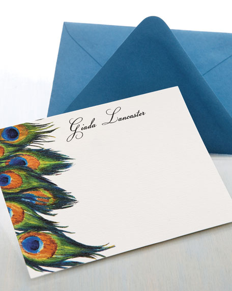 25 Personalized Peacock Cards