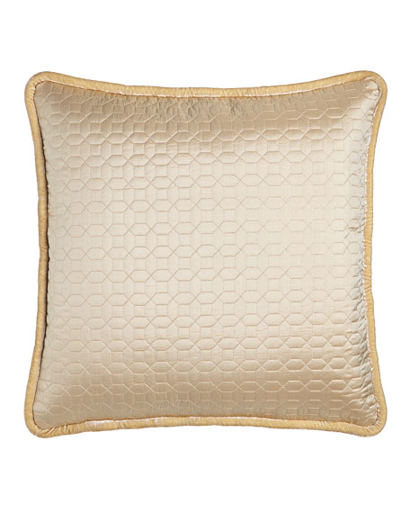 Each Neutral Modern Quilted European Sham