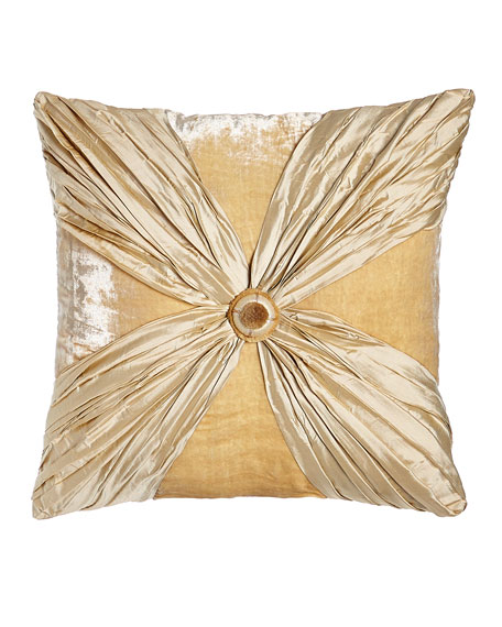 Dian Austin Couture Home Neutral Modern Crushed Silk/Velvet