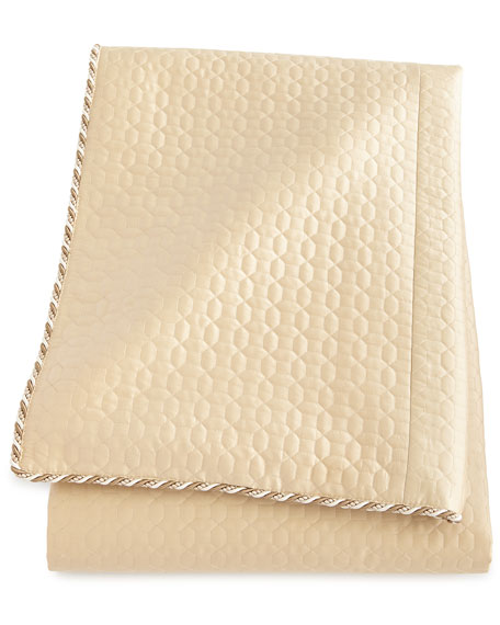 Neutral Modern King Quilted Silk Duvet Cover