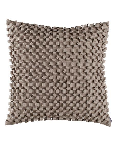 Jackie Silver Ribbon Pillow, 20