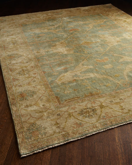 Exquisite Rugs Oceanside Oushak Rug, 4' x 6'