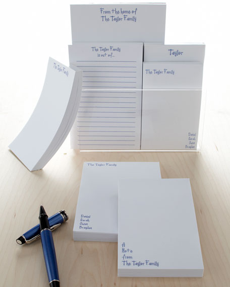 Personalized Family Notepad Set