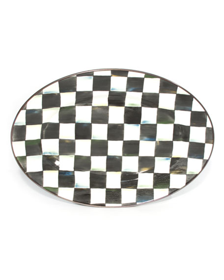 MacKenzie-Childs Courtly Check Oval Platters & Matching Items