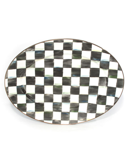 Medium Courtly Check Oval Platter