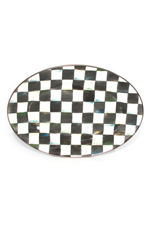 MacKenzie-Childs Large Courtly Check Oval Platter