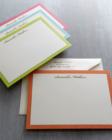 50 Lizard Correspondence Cards with Personalized Envelopes