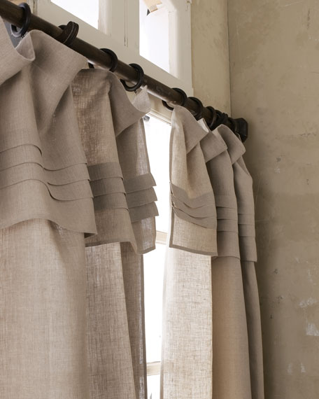 "108""L Pleated-Top Curtain"