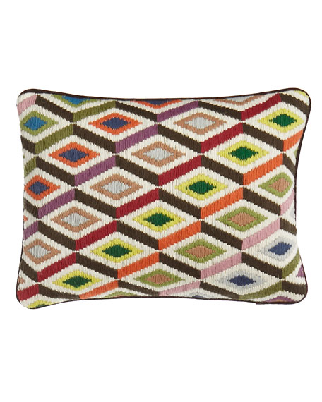 Jonathan Adler Bargello Diamond Pillow