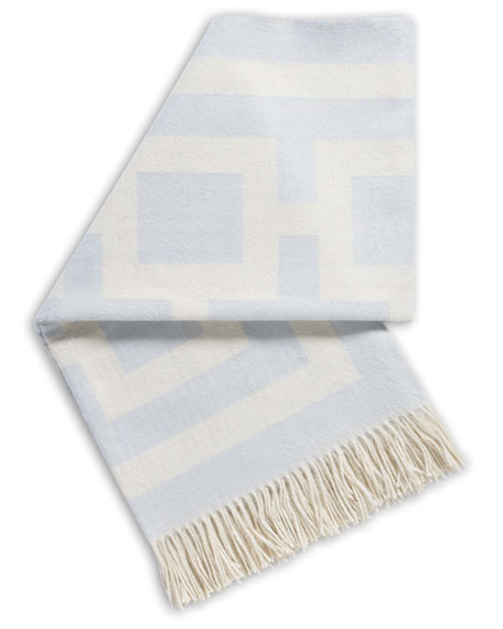 LIGHT BLUE NIXON THROW