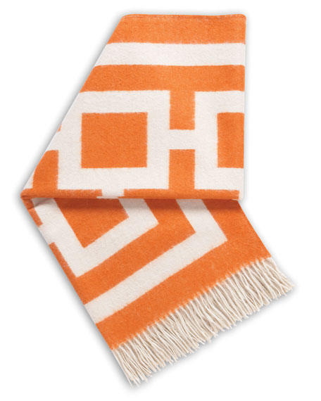 Jonathan Adler Orange Nixon Throw